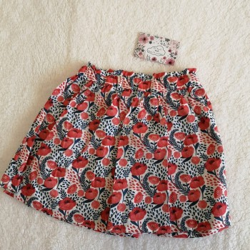 Jupe coquelicot 2 ans