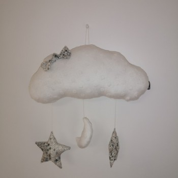 """Décoration """"nuage"""" blanc"""