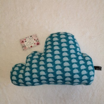 """Coussin nuage """"baleines"""" (grand)"""