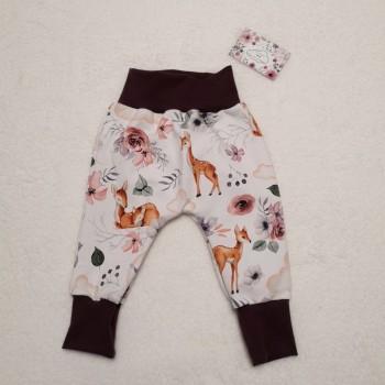 """Pantalon """"biches et montgolfières"""" 9/12 mois"""