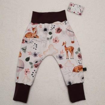 """Pantalon """"biches et montgolfières"""" 12/18 mois"""