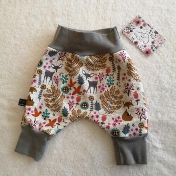 "Pantalon ""biches et fougères"" 0/3 mois"