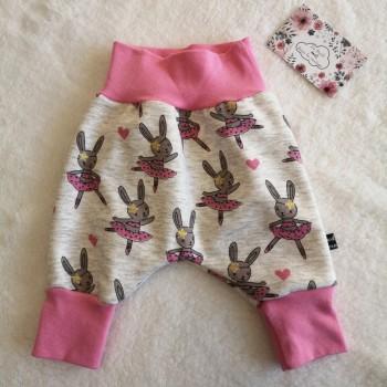 """Pantalon """"lapins roses"""" 0/3 mois"""