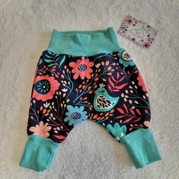 """Pantalon """"fleurs folk"""" 0/3 mois"""