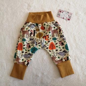 """Pantalon """"animaux de la forêt"""" 6/9 mois"""